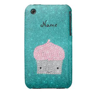 Diamantes bling personalizados de la magdalena del iPhone 3 Case-Mate carcasas