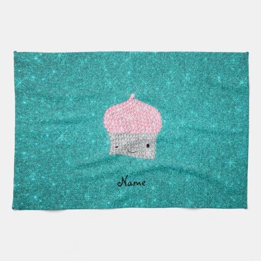 Diamantes bling personalizados de la magdalena del toallas de mano
