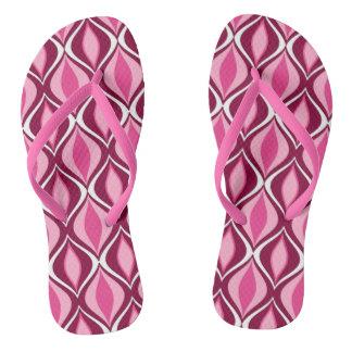 Diamantes, Borgoña y rosa modernos de los mediados Chanclas