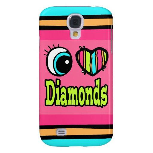 Diamantes brillantes del amor del corazón I del oj