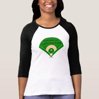 Diamantes… Camisa del béisbol del chica
