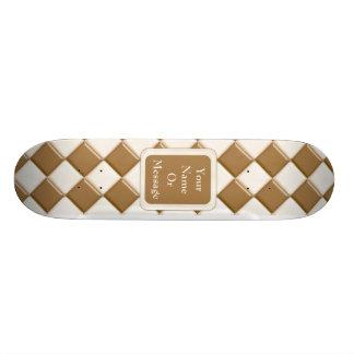 Diamantes - chocolate con leche y chocolate blanco monopatines personalizados