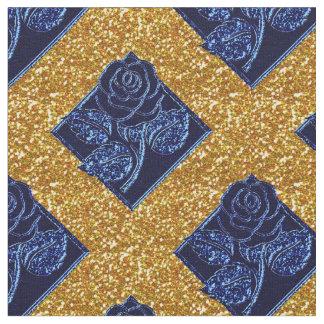 Diamantes color de rosa 04 azules y tela del telas