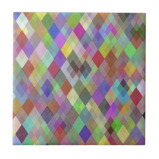 Diamantes coloridos azulejo