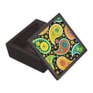 Diamantes coloridos del modelo de Moder Paisley Cajas De Joyas De Calidad