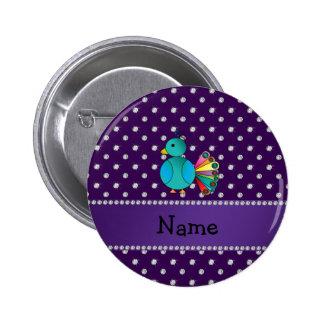 Diamantes conocidos personalizados de la púrpura d pin