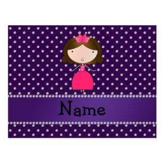 Diamantes conocidos personalizados de la púrpura d tarjeta postal