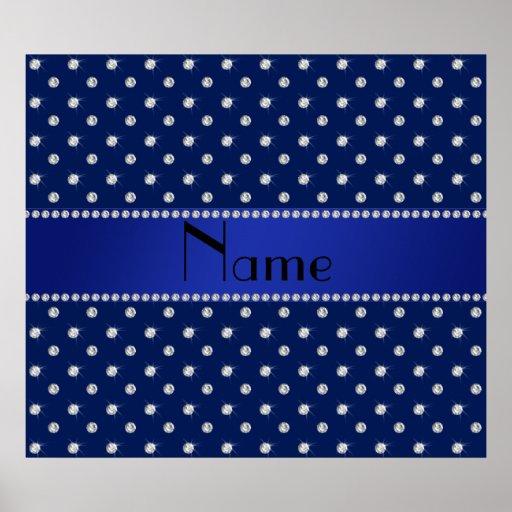 Diamantes conocidos personalizados de los azules m póster