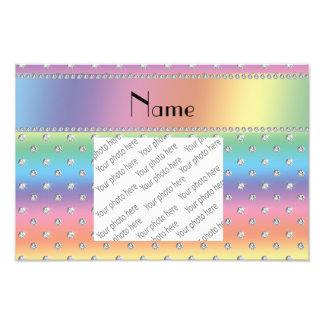 Diamantes conocidos personalizados del arco iris
