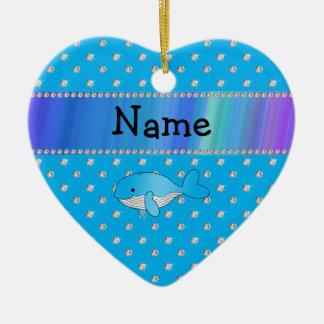 Diamantes conocidos personalizados del azul de la adorno de cerámica en forma de corazón