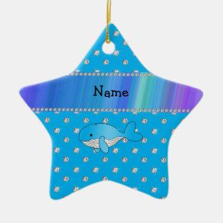 Diamantes conocidos personalizados del azul de la adorno de cerámica en forma de estrella