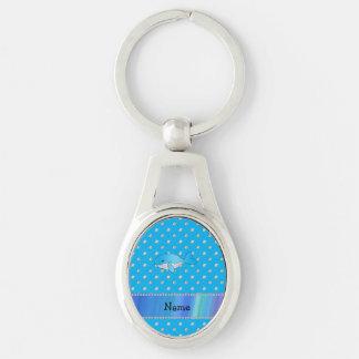 Diamantes conocidos personalizados del azul de la  llaveros