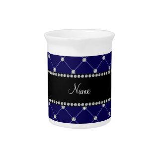 Diamantes conocidos personalizados del azul real jarras