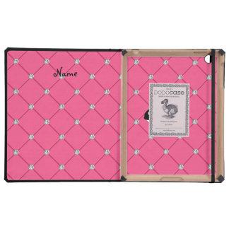 Diamantes conocidos personalizados del rosa de la iPad protector