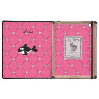 Diamantes conocidos personalizados del rosa de la iPad coberturas