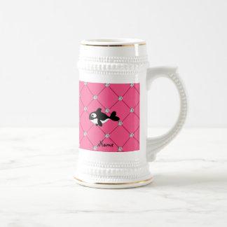 Diamantes conocidos personalizados del rosa de la jarra de cerveza
