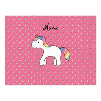 Diamantes conocidos personalizados del rosa del un tarjeta postal