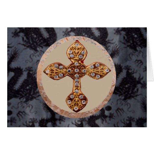 Diamantes cruzados de NOVINO en arte del dragón Tarjeta De Felicitación