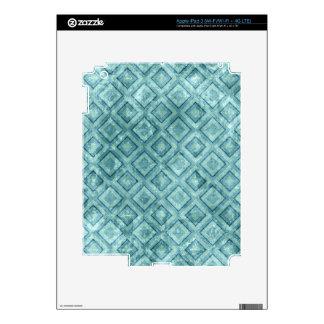 Diamantes de la aguamarina pegatina skin para iPad 3