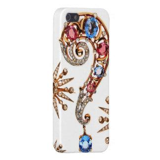 Diamantes de la bisutería del signo de interrogaci iPhone 5 carcasas