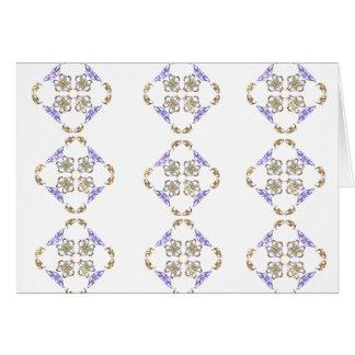 Diamantes de la flor tarjeta pequeña