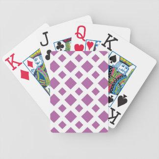 Diamantes de la lavanda en blanco barajas de cartas