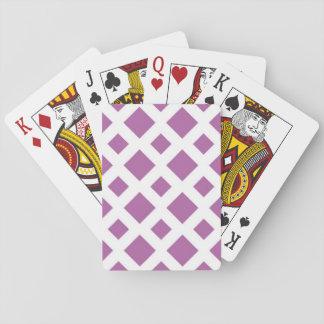 Diamantes de la lavanda en blanco cartas de juego