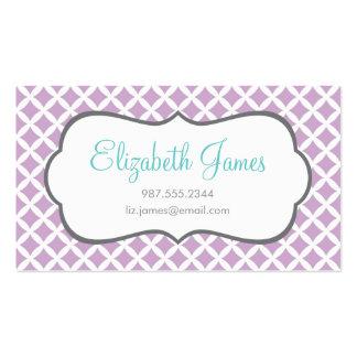 Diamantes de la lila tarjeta de visita