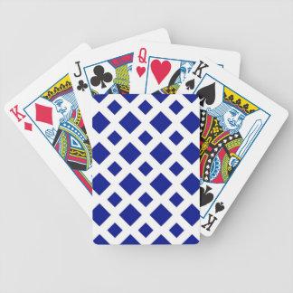 Diamantes de la marina de guerra en blanco baraja de cartas