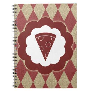 diamantes de la pizza libreta espiral