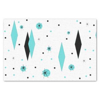 Diamantes de la turquesa y papel seda retros de papel de seda pequeño