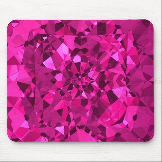 Diamantes de las rosas fuertes tapetes de raton