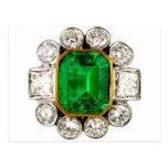 Diamantes de los diamantes artificiales de la bisu tarjeta postal
