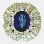 Diamantes de los diamantes artificiales de la pegatina redonda