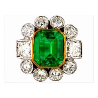 Diamantes de los diamantes artificiales de la postal