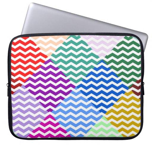 Diamantes del arco iris y caja del ordenador portá funda computadora