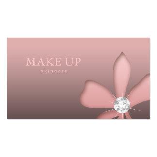 Diamantes del blanco de la flor del rosa de la joy tarjetas de visita