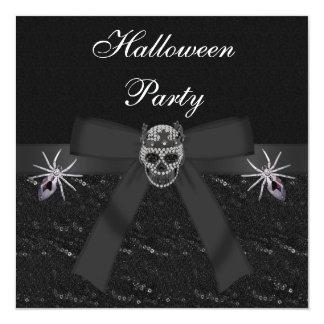 Diamantes del cráneo y fiesta de Halloween de las Invitaciones Personales