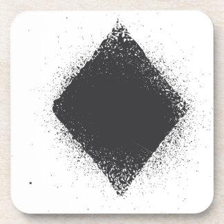 Diamantes del juego de la tarjeta - grunge en negr posavasos