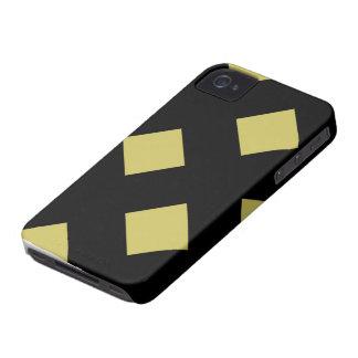 Diamantes del oro en el caso de Blackberry del iPhone 4 Fundas