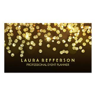 Diamantes del oro - falso negro del confeti de la tarjetas de visita