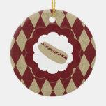 diamantes del perrito caliente ornamento para arbol de navidad