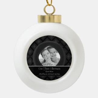 Diamantes del terciopelo (carbón de leña) (boda) adorno de cerámica en forma de bola