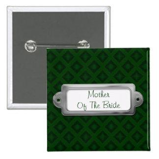 Diamantes del terciopelo (verde) (boda) pin