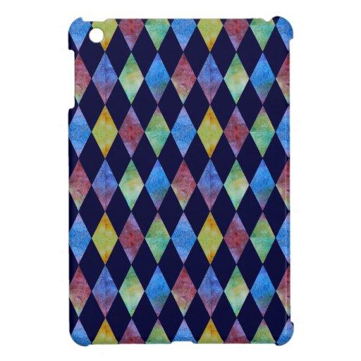 Diamantes empapados color en azul iPad mini carcasa