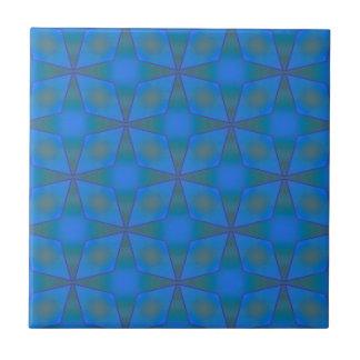 Diamantes en azul tejas  ceramicas