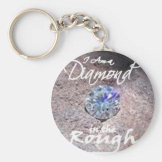 Diamantes en bruto llavero redondo tipo pin