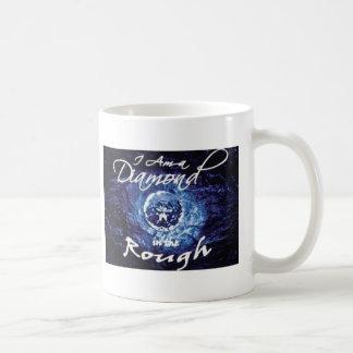 Diamantes en bruto taza básica blanca