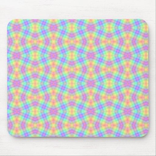 Diamantes en colores pastel Mousepad del arco iris Alfombrilla De Ratón