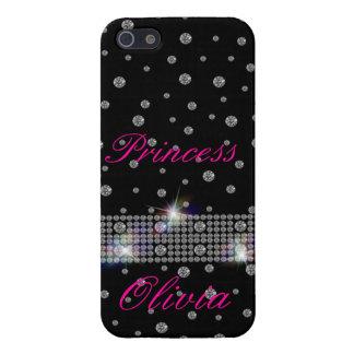 Diamantes en el cielo nocturno iPhone 5 fundas